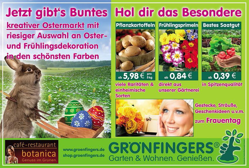 Grönfingers Garten & Wohnen. Genießen.