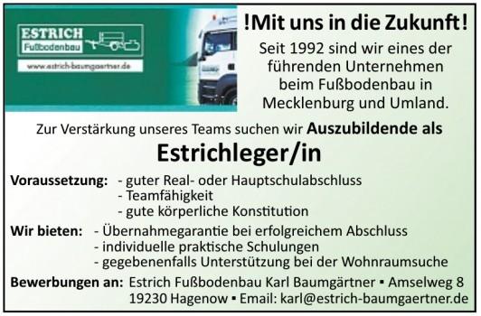 Estrich Fußbodenbau Karl Baumgärtner