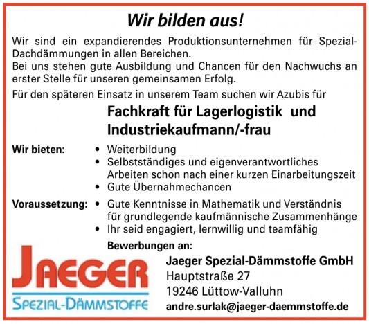 Jaeger Spezial Dämmstoffe